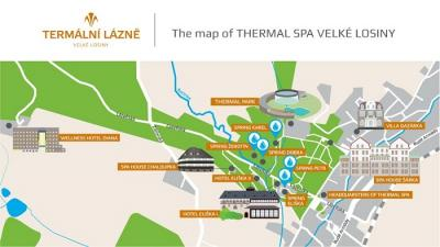 Map of THERMAL SPA komplex