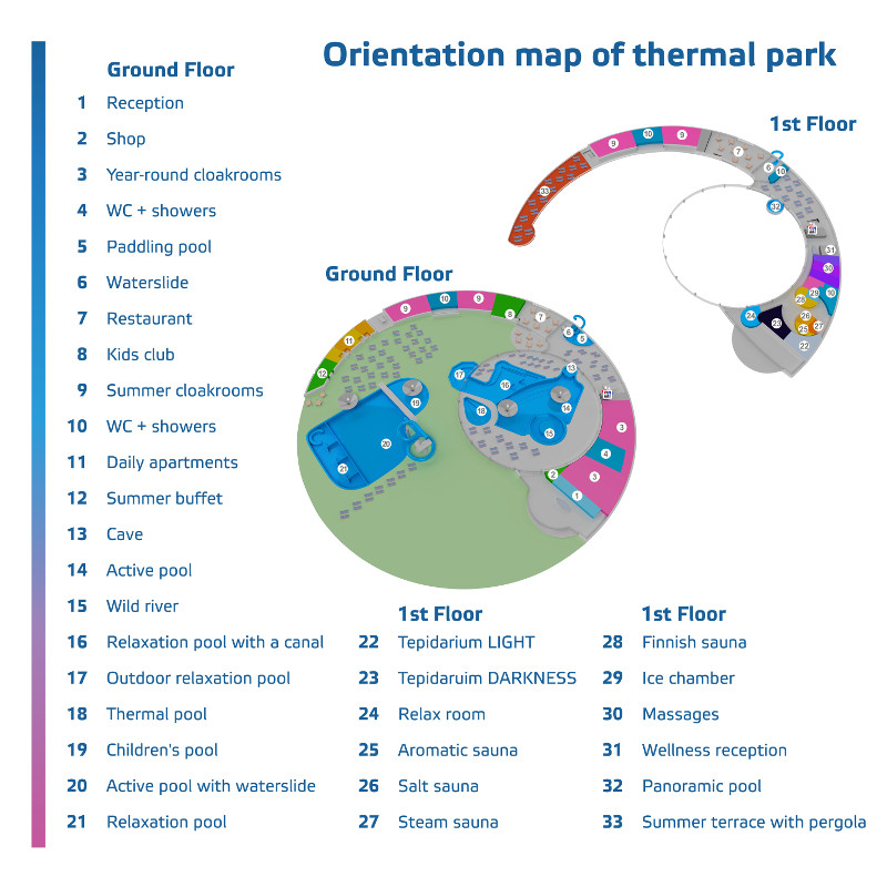 Map - thermal park THERME LOSINY